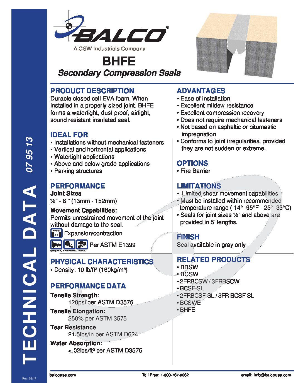 BHFE_TechData - Balco