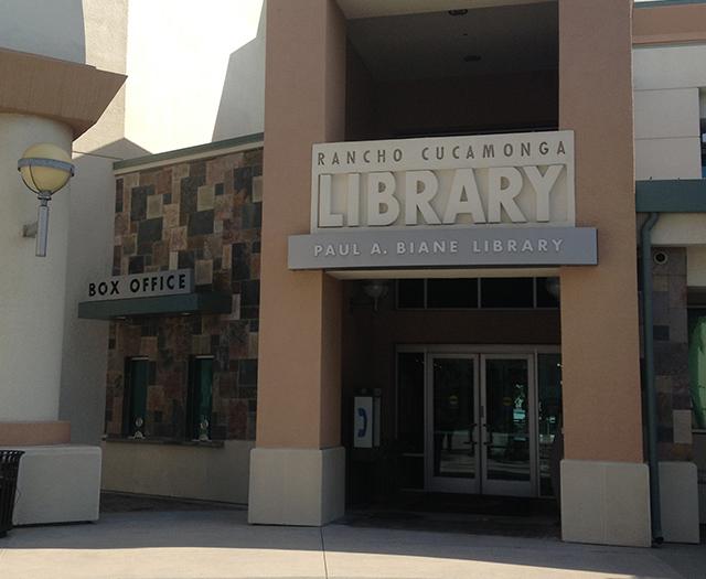 Rancho Cucamonga Public Library Balco